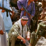 weyman collecting soil samples afghanistan - farm arda jalalabad tank command 81